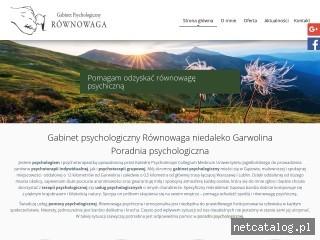 Zrzut ekranu strony psychologgarwolin.pl