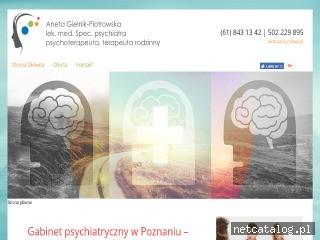 Zrzut ekranu strony psychiatrapoznan.com