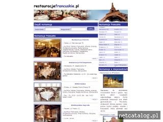 Zrzut ekranu strony www.restauracjefrancuskie.pl