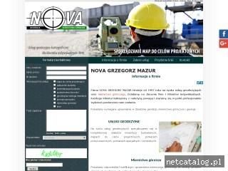 Zrzut ekranu strony www.novageodezja.pl