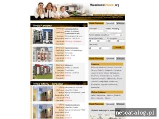 Zrzut ekranu strony www.mieszkaniakrakow.org