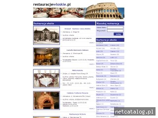 Zrzut ekranu strony www.restauracjewloskie.pl
