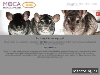 Zrzut ekranu strony www.fermaszynszyli.pl