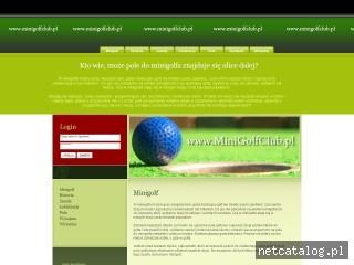 Zrzut ekranu strony www.minigolfclub.pl