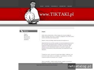 Zrzut ekranu strony www.tiktaki.com