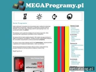 Zrzut ekranu strony www.megaprogramy.pl