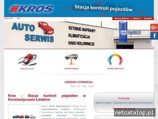 Zrzut ekranu strony www.kros-stacjakontroli.pl