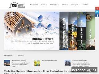 Zrzut ekranu strony tsgtm.pl