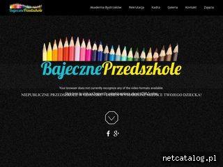Zrzut ekranu strony www.bajeczne-przedszkole.pl