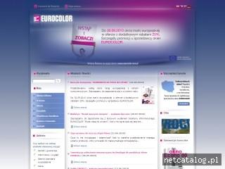Zrzut ekranu strony www.euro-color.com.pl