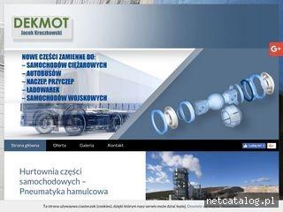 Zrzut ekranu strony www.dekmot.info