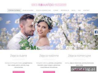 Zrzut ekranu strony www.marcinromanski.com