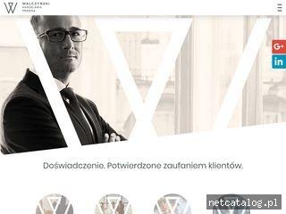 Zrzut ekranu strony walczynski.pl