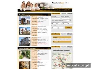 Zrzut ekranu strony www.mieszkanialodz.info