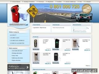 Zrzut ekranu strony www.alcoscent.pl