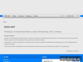 Zrzut ekranu strony inox-art.com.pl