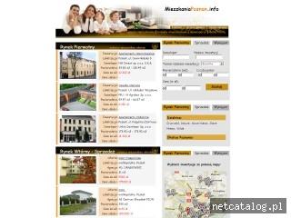 Zrzut ekranu strony www.mieszkaniapoznan.info