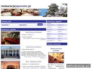 Zrzut ekranu strony www.restauracjejaponskie.pl