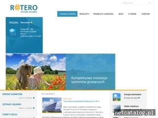Zrzut ekranu strony www.rotero.pl