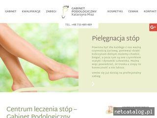 Zrzut ekranu strony podologgliwice.pl