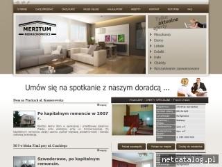 Zrzut ekranu strony www.meritum.nieruchomosci.pl