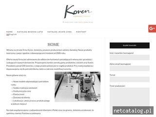 Zrzut ekranu strony korenmoda.eu