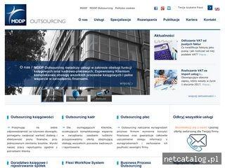 Zrzut ekranu strony www.mddp-outsourcing.pl