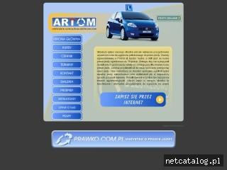 Zrzut ekranu strony artom.gda.pl