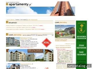 Zrzut ekranu strony www.nowemieszkaniakrakow.apartamenty.pl