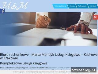 Zrzut ekranu strony ksiegowosc.mendyk.com.pl