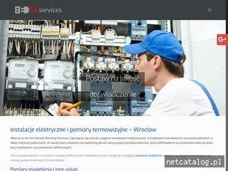 Zrzut ekranu strony www.geservices.pl