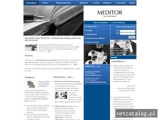 Zrzut ekranu strony www.kancelarie-meditor.pl