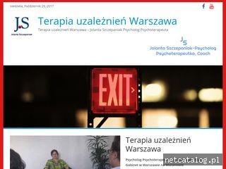Zrzut ekranu strony terapiauzaleznien.waw.pl