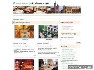 Zrzut ekranu strony www.restauracjekrakow.com