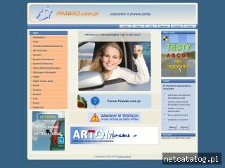 Zrzut ekranu strony prawko.com.pl