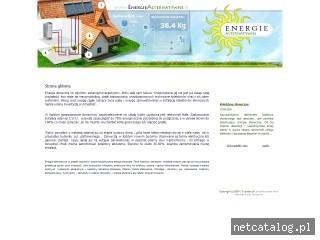 Zrzut ekranu strony www.energiealternatywne.pl