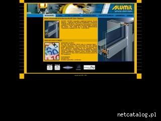Zrzut ekranu strony www.alumil.com.pl
