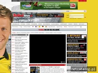 Zrzut ekranu strony www.futbolnews.pl