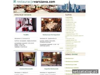 Zrzut ekranu strony www.restauracjewarszawa.com