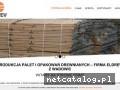 www.eldrewpalety.pl produkcja opakowań drewnianych Wadowice