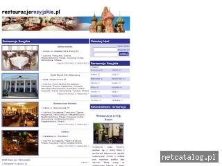 Zrzut ekranu strony www.restauracjerosyjskie.pl