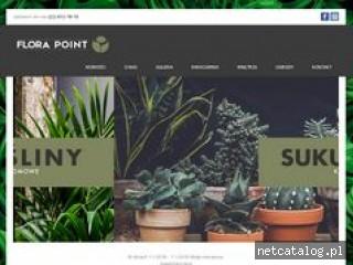 Zrzut ekranu strony www.florapoint.pl