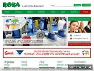 Zrzut ekranu strony www.roka.szczecin.pl