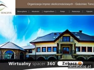 Zrzut ekranu strony www.tenczyn.pl
