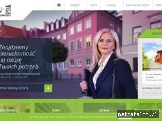 Zrzut ekranu strony www.ptaknieruchomosci.pl