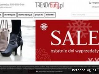 Zrzut ekranu strony www.trendybuty.pl