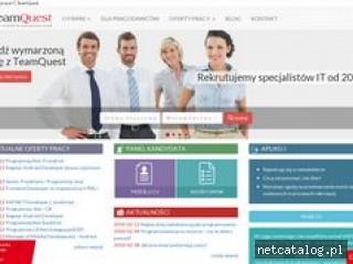 Zrzut ekranu strony teamquest.pl