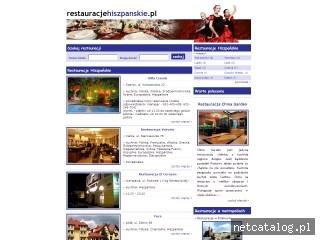 Zrzut ekranu strony www.restauracjehiszpanskie.pl