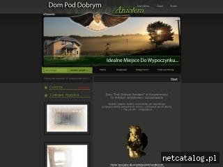 Zrzut ekranu strony www.poddobrymaniolem.pl