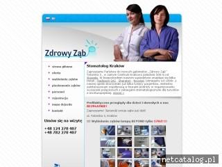Zrzut ekranu strony www.zdrowy-zab.pl